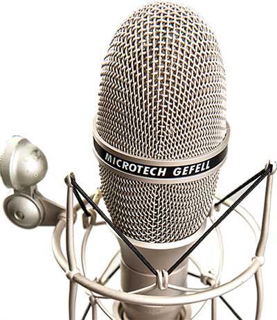 micrófono de estudio de radio